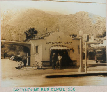 Greyhound Bus Depot 1936 now home to Tyler's Burgers Palm Springs