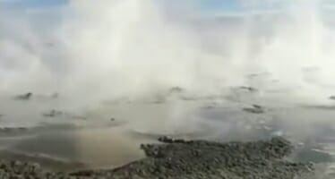 New Mud Pots Boil Over, Salton Sea – California