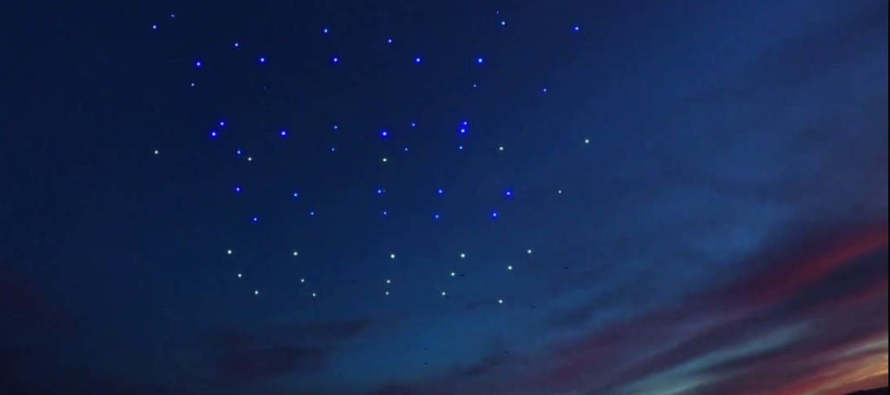 100 Drones Lights Up the Palm Springs Sky