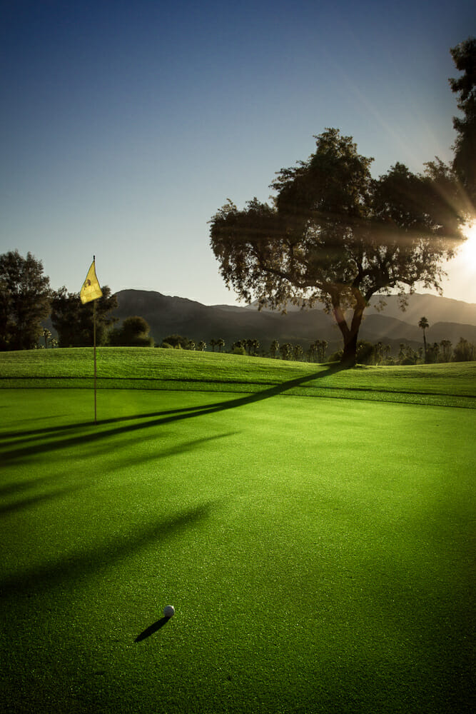 Numbering 121 golf courses, the valley is home to 14 percent of Southern California's golf stock. Photo by Coachella Valley, Inc