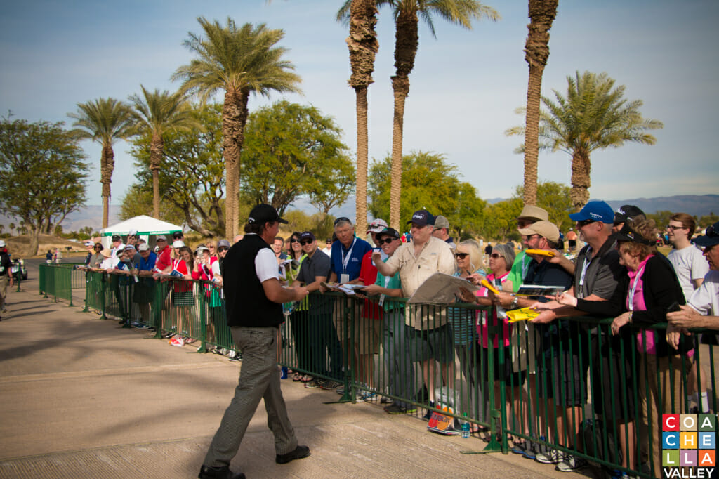 Phil Mickelson Signing Autographs for Fans