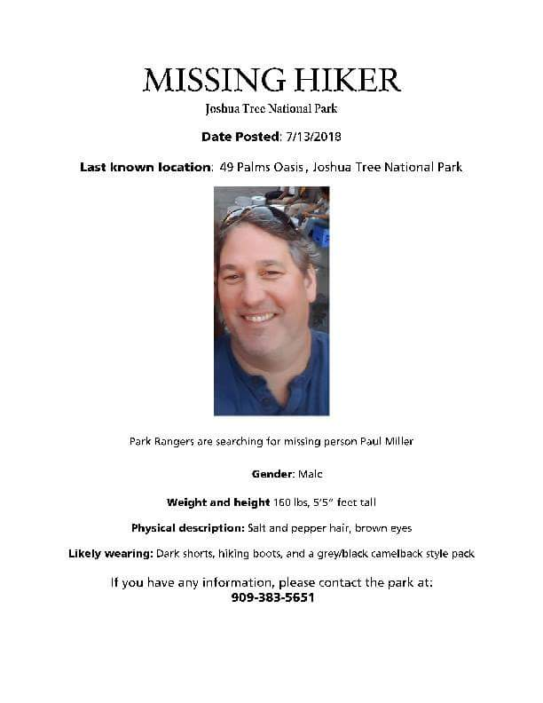 Missing Hiker in Joshua Tree National Park