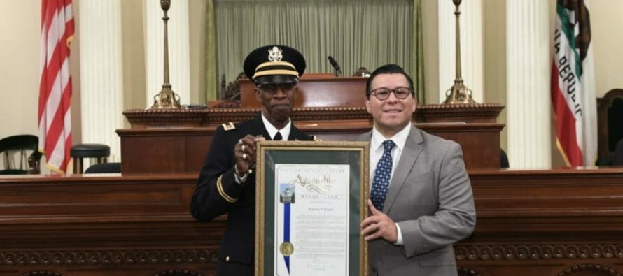 """Indio resident, Reginald 'Reggie"""" Powell, honored as the 56th Assembly District's 2018 Veteran of the Year"""