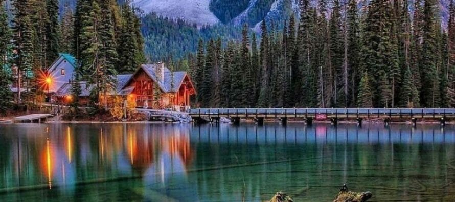 Emerald Lake in Canada is the largest of Yoho's 61 lakes and ponds