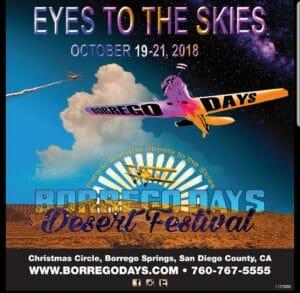 Borrego Days Octiber 19-21, 2018