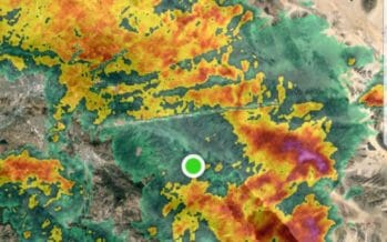 """Fall Rains"" Fall throughout the Coachella Valley. Flash Flood Warnings continue."