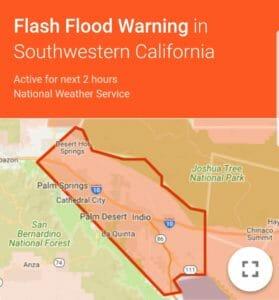 Flash Flood Warningn October 13, 2018