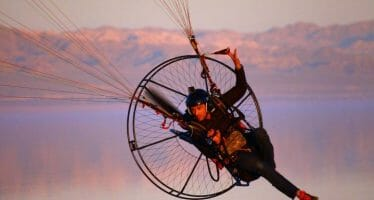 "California Salton Sea Fly-in ""Gathering"" of Paramotor Pilots"