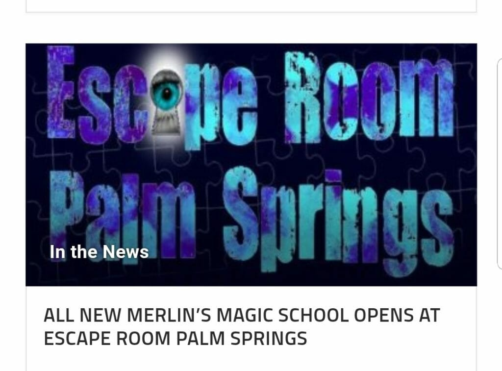 One of the Largest Escape Rooms in Southern California... Escape Room Palm Springs