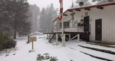 ANNUAL SNOW GUESSING CONTEST BEGAN IN OCTOBER CONTINUES  Palm Springs Aerial Tramway Continues Annual Tradition