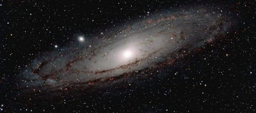 Andromeda Galaxy seen from Cathedral City, Coachella Valley