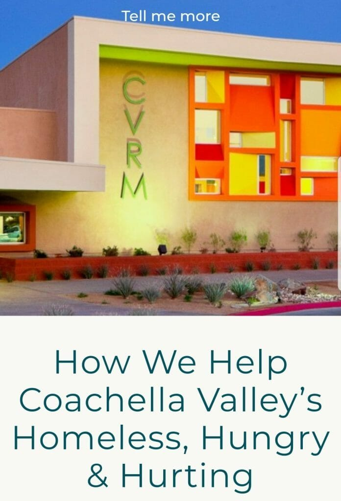 How we help Coachella Valley's Homeless