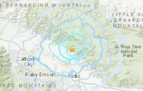 #Earthquake Magnitude 3.5 earthquake 10 miles from Indio, CA · 2:07 PM