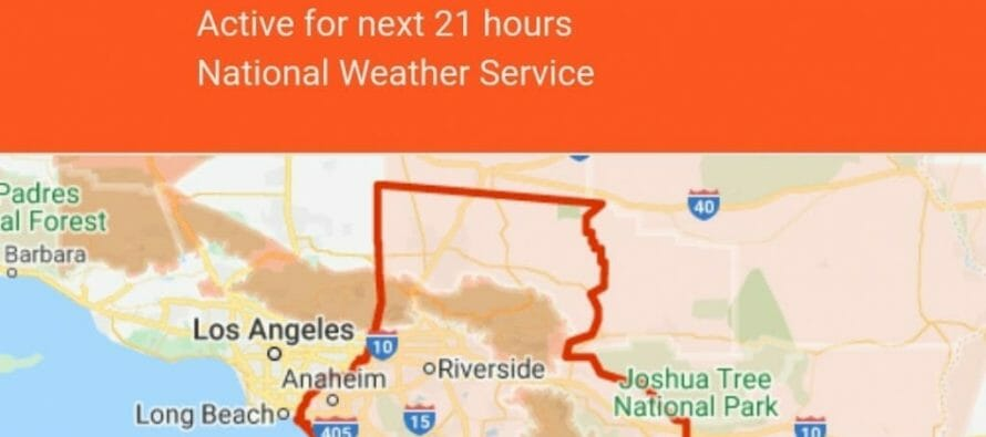 A Flash Flood Watch remains in effect through Wednesday evening for all of the Coachella Valley