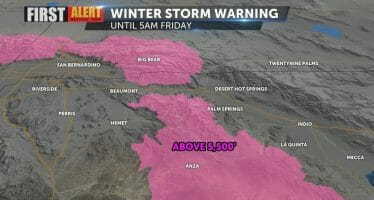 Winter Storm Warning: San Bernardino County Mountains; Riverside County Mountains