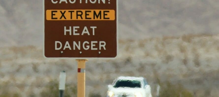 Death Valley 130F / 54.4C Sunday, hottest recorded in 107 years.
