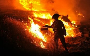 Man made El Dorado Fire, now at 8,600 acres, spreads into Riverside County