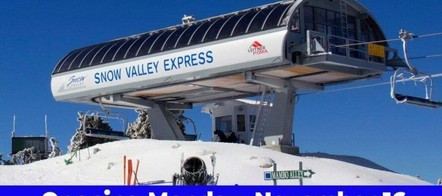 SNOW VALLEY OPENS ITS 2020/2021 SKI SEASON THIS MORNING