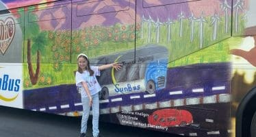 Sunline Bus Shows Off Student Art Contest Elementary Category Winner Jasmine Khaligov