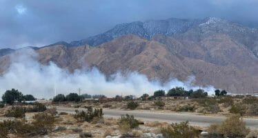 Evacuation Orders Issued In North Palm Springs Due To Mulch Fire, 40-60MPH Winds ( Video), 125 Firefighters On Hand