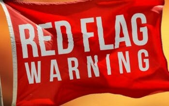 Red Flag Warning until 10:00PM Saturday