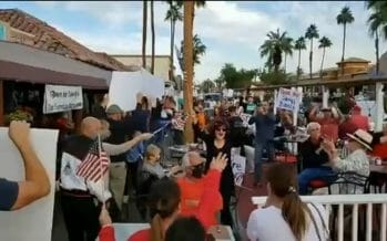 Protesters Descend on El Paseo Drive, Restaurants Stay Open In Defiance of New Order