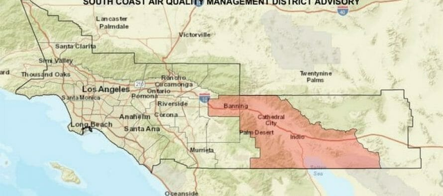 Wind and dust advisories have been issued for Deserts, Mountains beginning at 7 p.m. Monday through 6 a.m. Tuesday