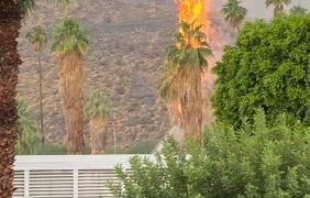 (VIDEO) Lightning Strike in the Coachella Valley Starts Fire 🔥