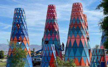 Coachella Fest Art Re-Installed at Indio Park